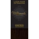"16"" Clip In Human Hair Extensions ULTIMATE FULL HEAD #2 Darkest Brown"