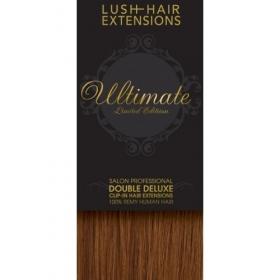 "20"" Clip In Human Hair Extensions ULTIMATE FULL HEAD #33 Dark Auburn"