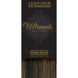 "18"" Clip In Human Hair Extensions ULTIMATE FULL HEAD #4/27 Dark Brown/ Caramel Mix"