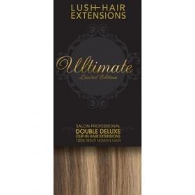 "22"" Clip In Human Hair Extensions ULTIMATE FULL HEAD #6/613 Medium Brown / Blonde"