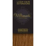 """16"""" Clip In Human Hair Extensions ULTIMATE FULL HEAD #8 Light Brown"""