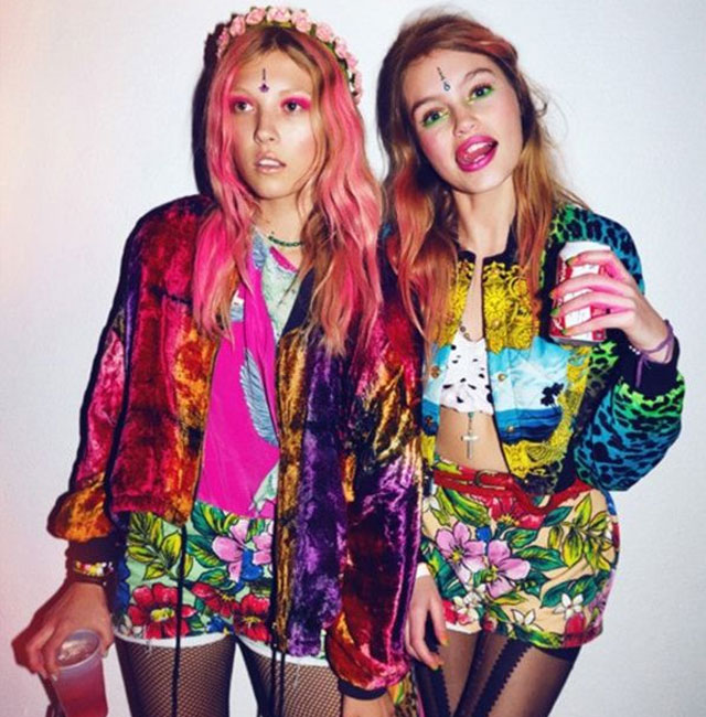 Festival style colourful clothes
